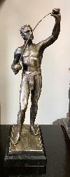 ezüstözött ón szobor